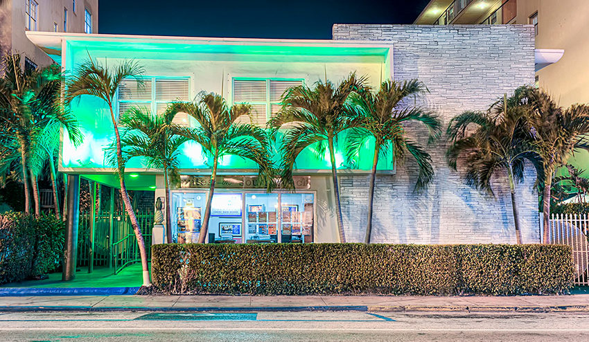 Suites on South Beach Exterior at Night